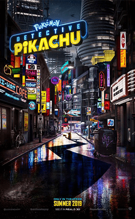 The official poster for POKÉMON Detective Pikachu.