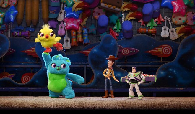 Ducky and Bunny join Woody and Buzz in Toy Story 4