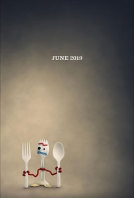 Forky character poster from Toy Story 4