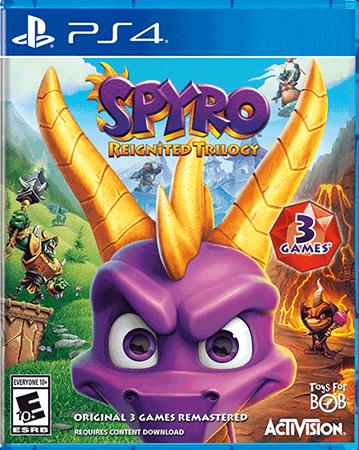 Spyro Reignited Trilogy Box Art