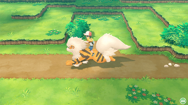 You can have smaller Pokémon follow you and your trainer can ride on larger creatures.