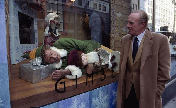 Walter finds Buddy sleeping in Gimbel's window