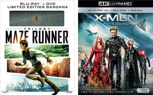 Maze Runner and X-Men Trilogy Sets