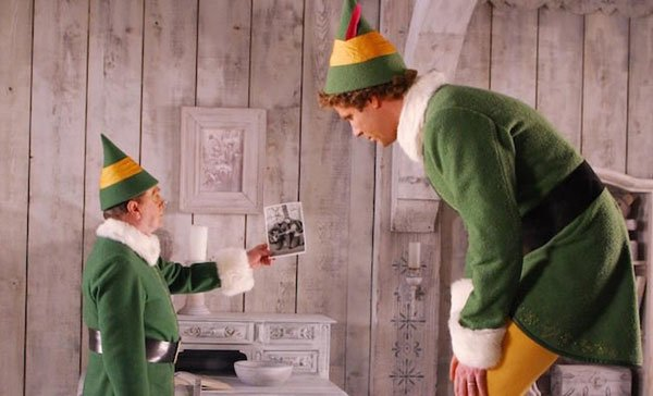 Buddy's elf dad explains his real parentage