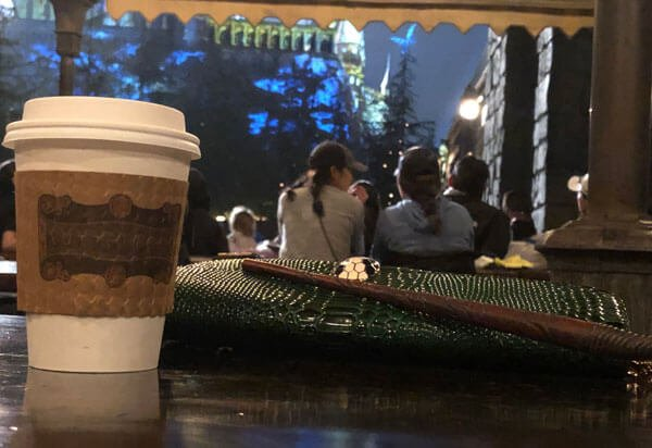 Sit and watch the lights on Hogwarts with hot butterbeer