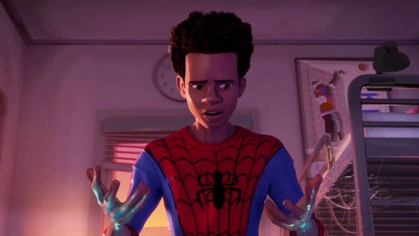 Miles Morales is in awe of his new Spidey-powers
