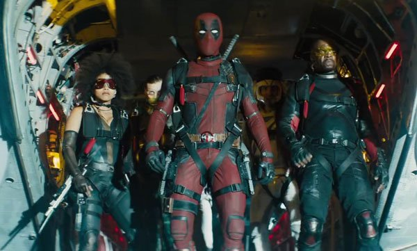 Deadpool with members of the X-Force