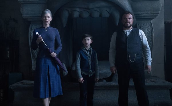 Mrs. Zimmerman, Jon and Lewis confront evil in the house