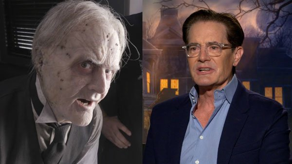 Kyle MacLachlan and his undead make-up
