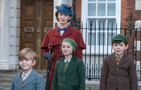 Emily as Mary with the Banks children