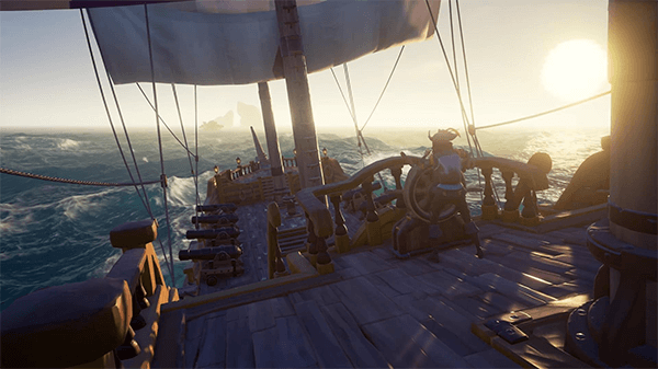 The gorgeous water in Sea of Thieves makes sailing the high seas an immersive experience.