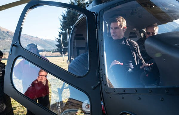 Tom gets ready for helicopter chase stunts