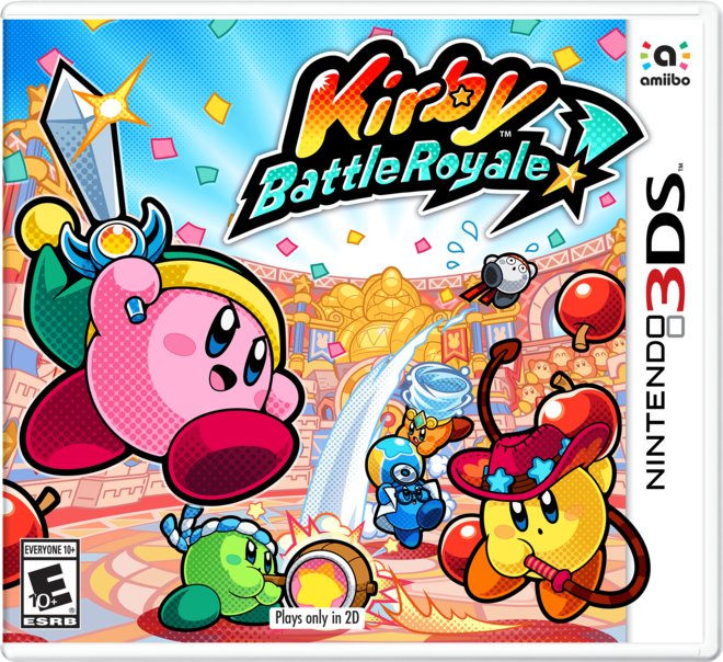 Kirby Battle Royale 3DS Box Art