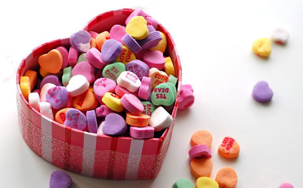 Sweethearts candy say what you feel so you don't have to.