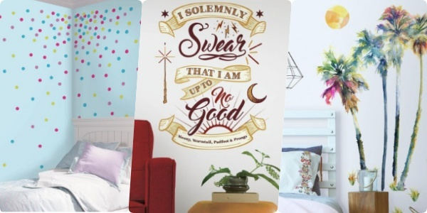 Wall art stickers let you change up your look as often as you'd like
