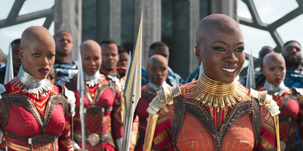 Okoye is happy to see T'Challa as king
