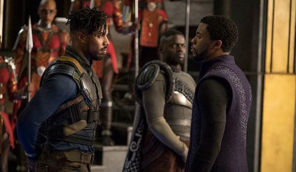 Killmonger confronts T'Challa