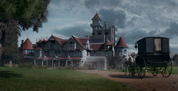 Dr. Price's buggy approaches the Winchester house