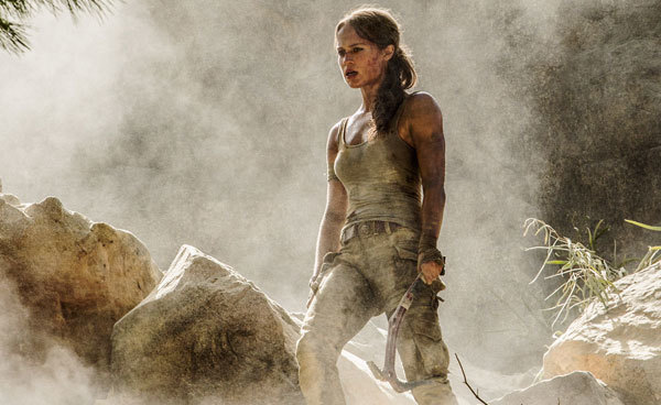 Lara is the worse for wear after a harrowing escape