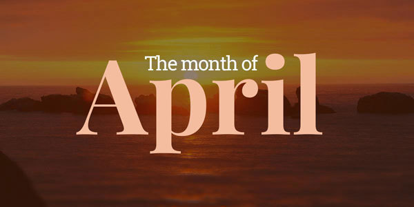 Feature the month april feat