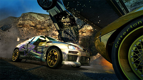 Crashes are still a main element of Burnout's gameplay.
