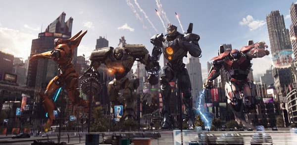 Jaeger mechs ready to fight giant monsters