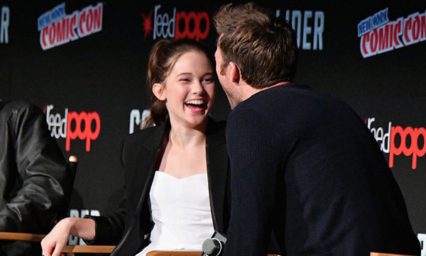 Cailee and Scott Eastwood goof off at New York Comic Con