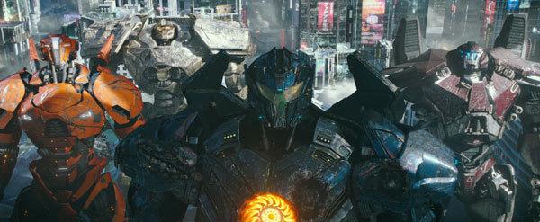 Giant, battle-scarred Jaegers