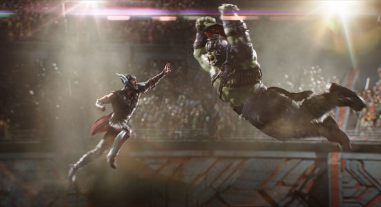 Thor and Hulk battle it out