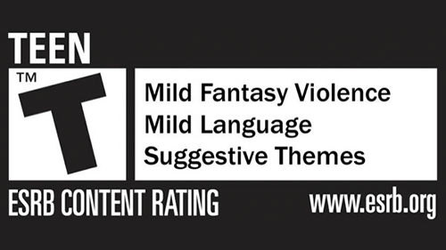 The ESRB's Teen rating with content descriptions.
