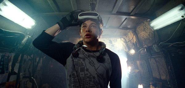 Tye as Parzival/Wade in virtual reality gear