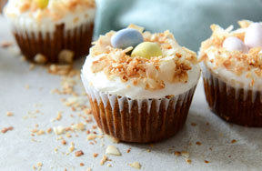 Preview carrot cake easter cupcakes pre