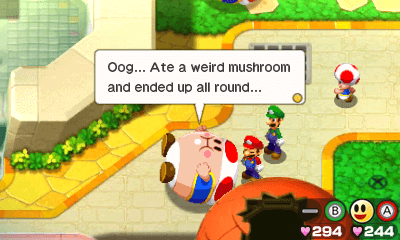 Much like the other entries, Bowser's Inside Story retains the charming dialogue of the franchise.