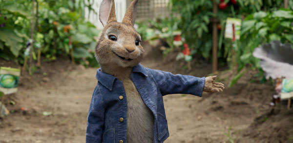 James Corden voices Peter Rabbit