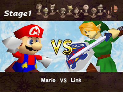 The original Classic Mode from the Nintendo 64 version of Smash.
