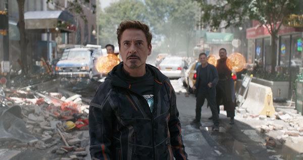 Tony Stark is shocked at the destruction