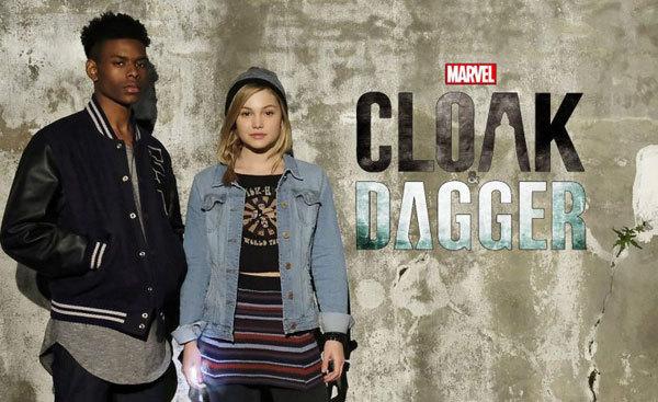 Olivia as Dagger with Aubrey Joseph as Cloak