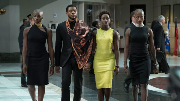 T'Challa, Nakia, Okoye arrive at the U.N.