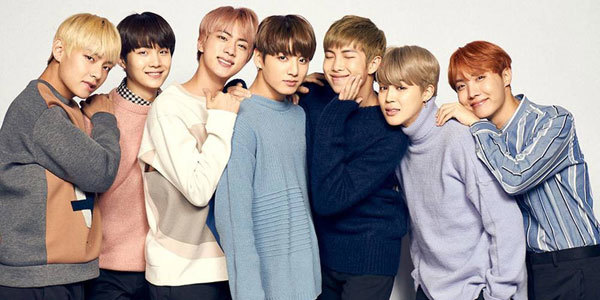 The seven members of BTS. V, Suga, Jin, Jungkook, RM, Jimin and J-Hope