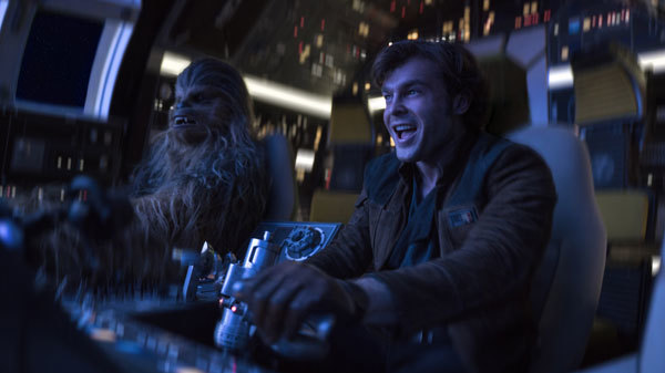 Finally Han and Chewie rule the Falcon