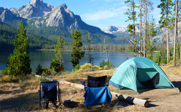 There's nothing like camping near a lake or ocean!