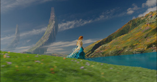 One of the magical CGI sets