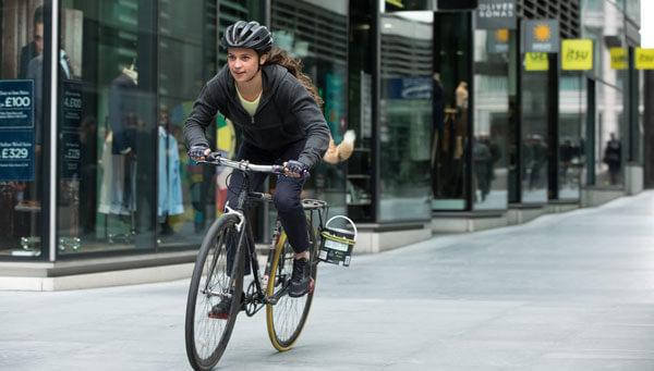 Lara's bike messenger race