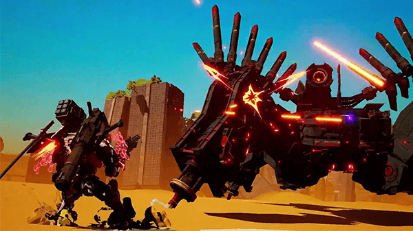 Daemon X Machina has a different look than your typical Nintendo title.
