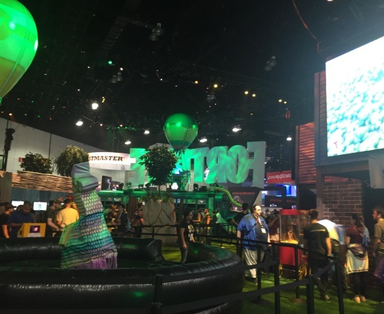 The Fortnite booth