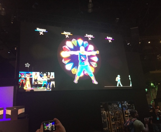 Just Dance 2018 with live dancers in costume
