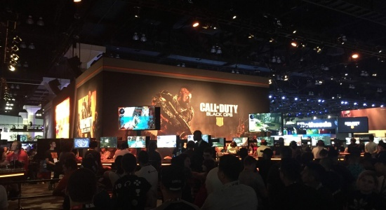 The Call of Duty Black Ops booth was all about the gaming experience