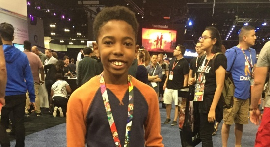 Young Killmonger, Seth Carr, from Black Panther