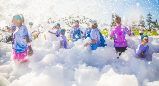 A foam run is fun for all ages!