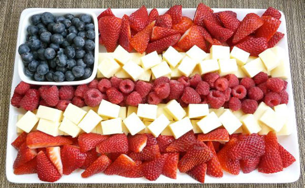 Star Spangled Fruit Plate
